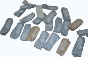 Twenty-one pairs of hspital socks