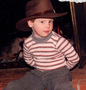 Our little Indiana Jones.